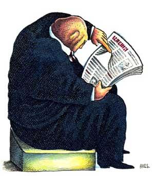 Manera correcta de leer el periódico
